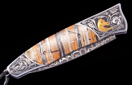 William Henry Arabian horse Themed knife