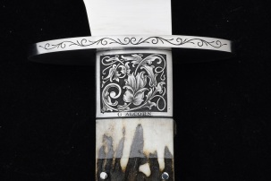 Just finishing L M Erickson Stag Bowie w/Arabesque Scroll