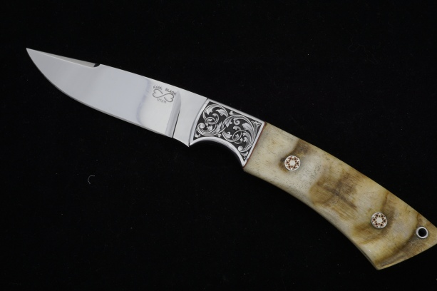 Knife by Earl Black of Utah Engraving by G Alcorn of Montana