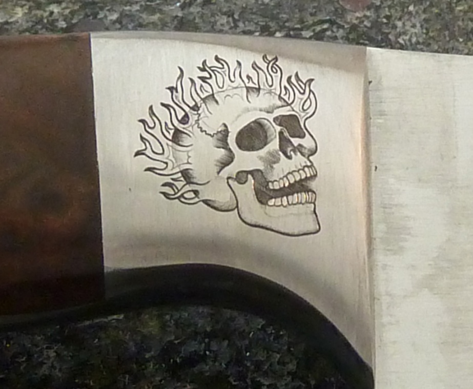 Flamming Skull Cropped