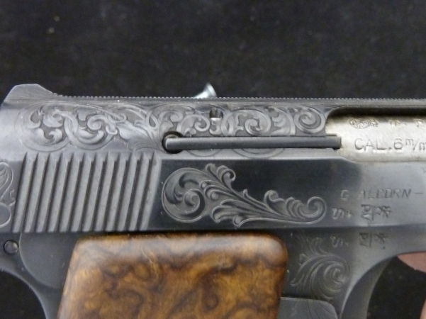 Detail of Baby Browning w/ Ironwood grips