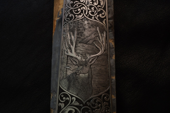 Sculpted Mule Deer Floor Plate